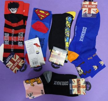 20 unisex character cycling socks just £2.00 each
