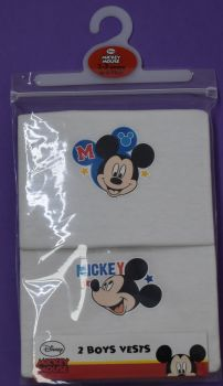 18 boys mickey mouse 2 pack vests just £1.30 each
