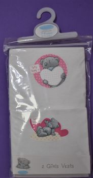 18 Girl's 2 Pack Vests Tatty Teddy Me To You