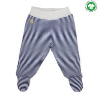 14 organic cotton footed pants blue striped