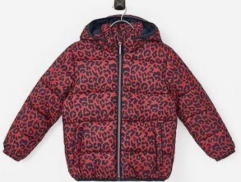 12 Ex Store Padded Red Leopard Print Jackets