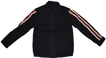 11 Ex Store Black Cotton Military Style Jackets