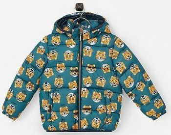 12 Ex Store Padded Green Cat Print Jackets
