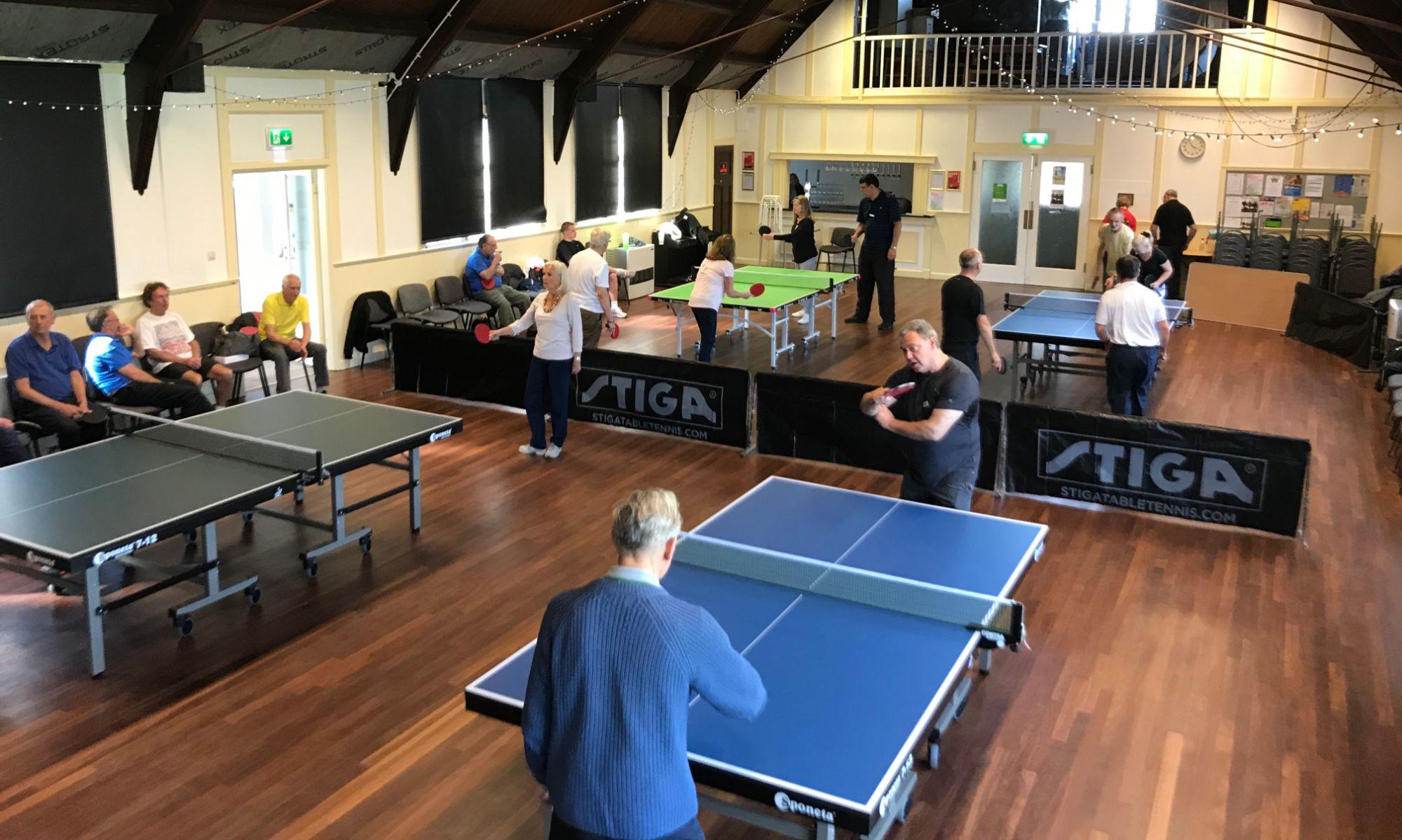 Vicarage Park Community Centre, Table Tennis