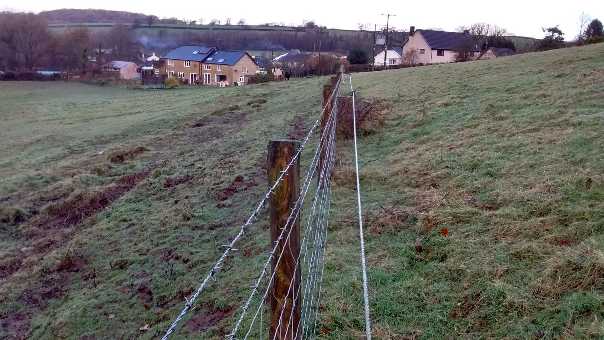 Boundary Fence in Cornwall