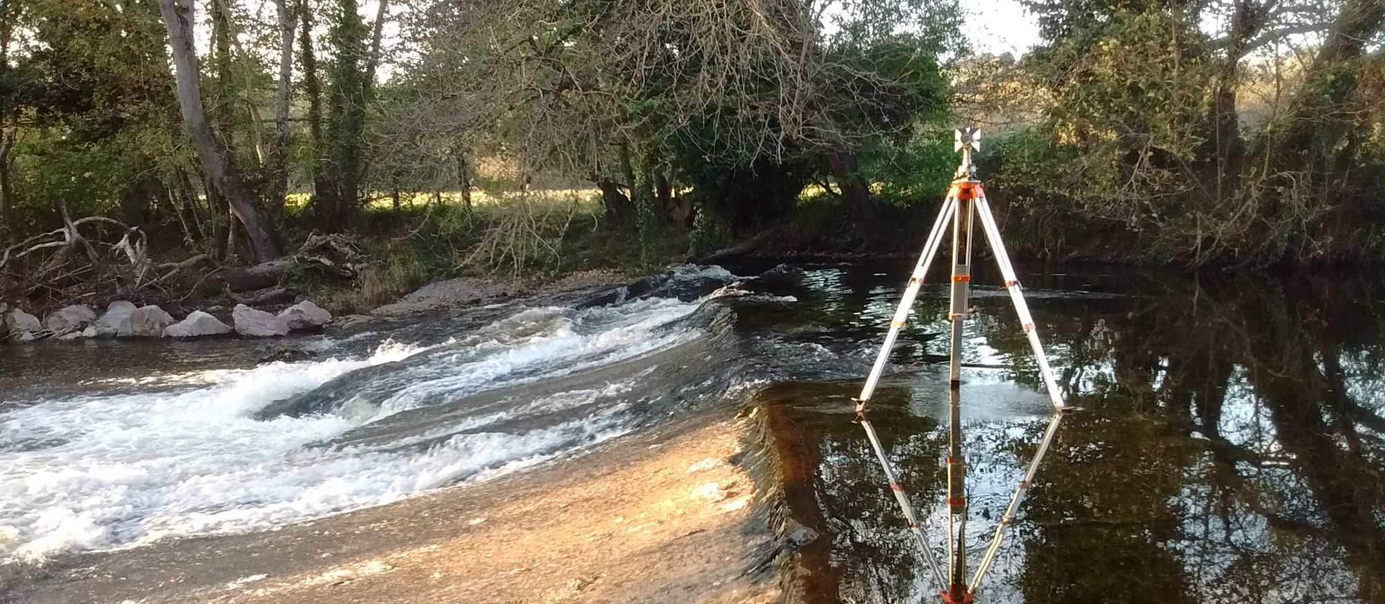 Survey of river weir in Devon
