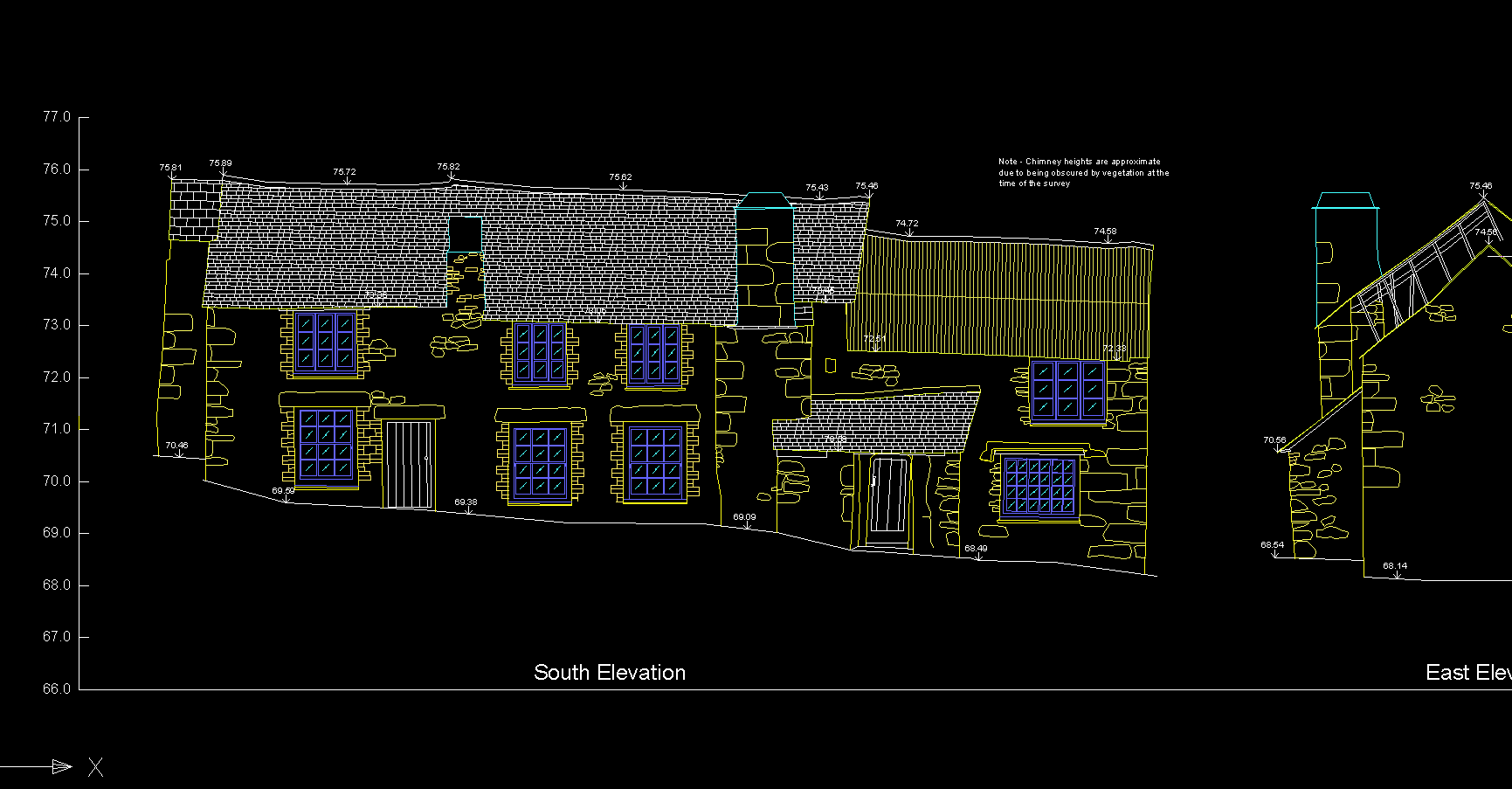 Elevation of Farmhouse in Cornwall