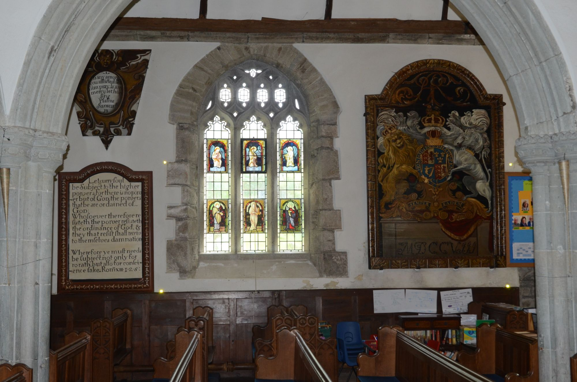 Church internal elevations, Cornwall