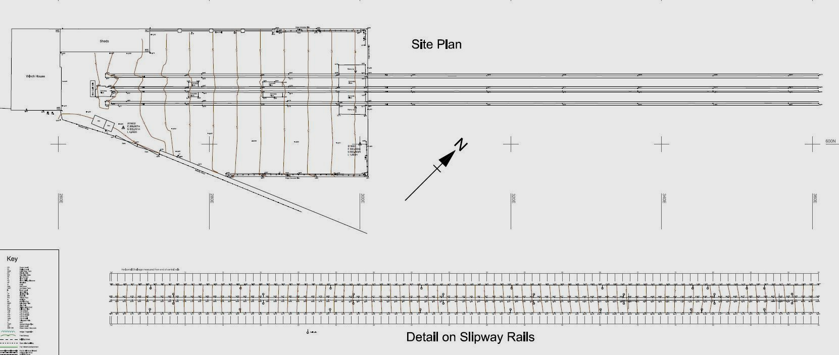 Slipway rails plan, Newlyn, Cornwall