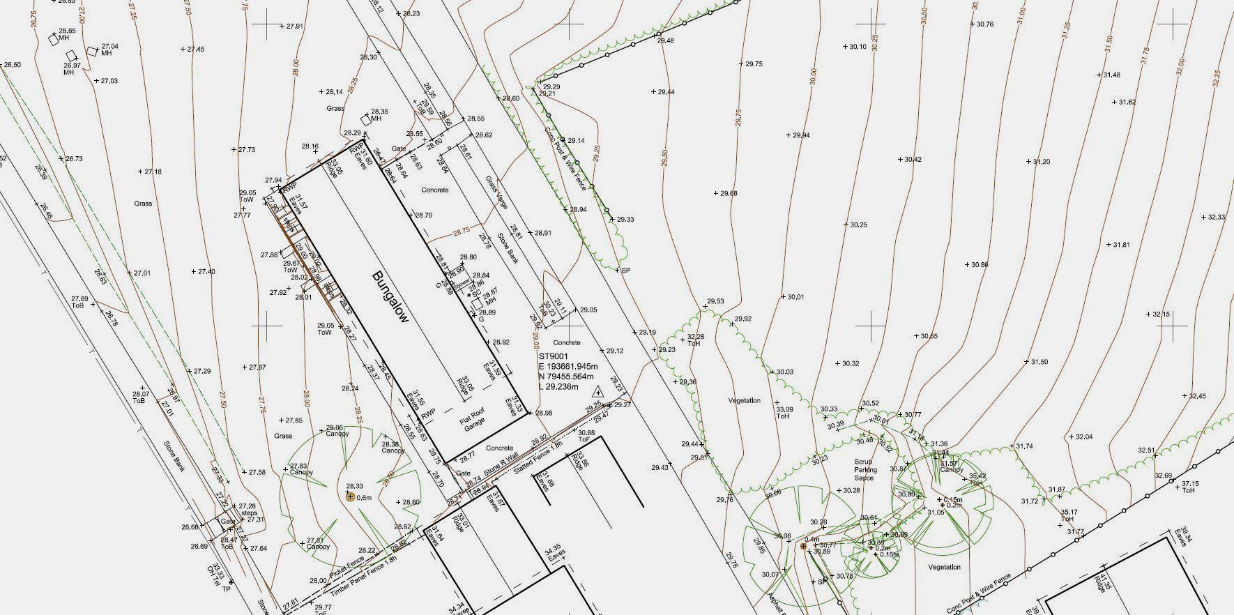 GPS land survey plan