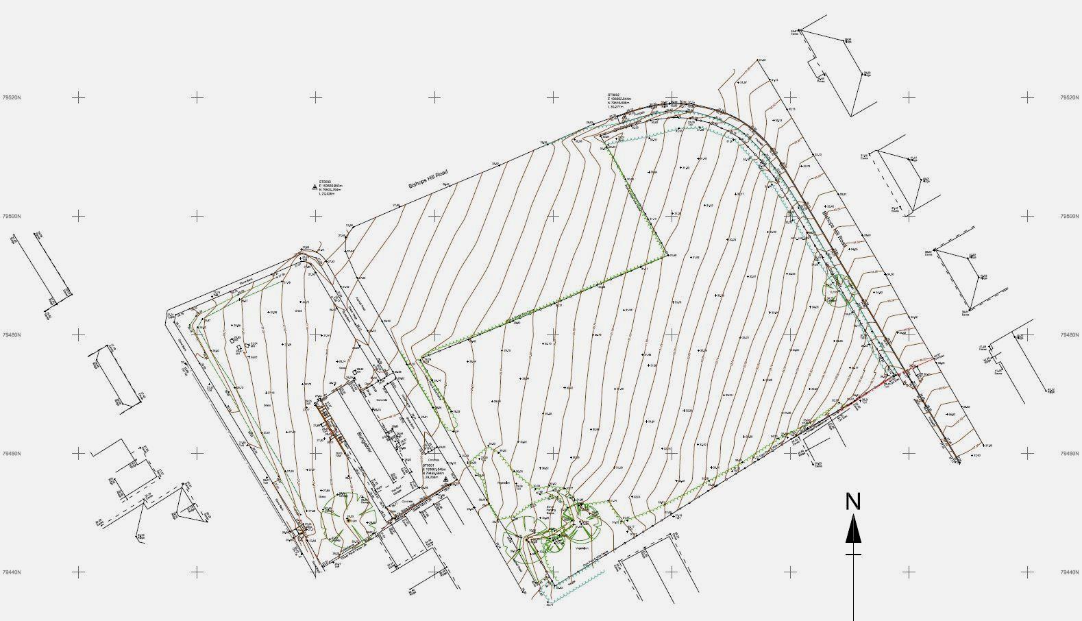 Topographical land survey, Polzeath, Cornwall