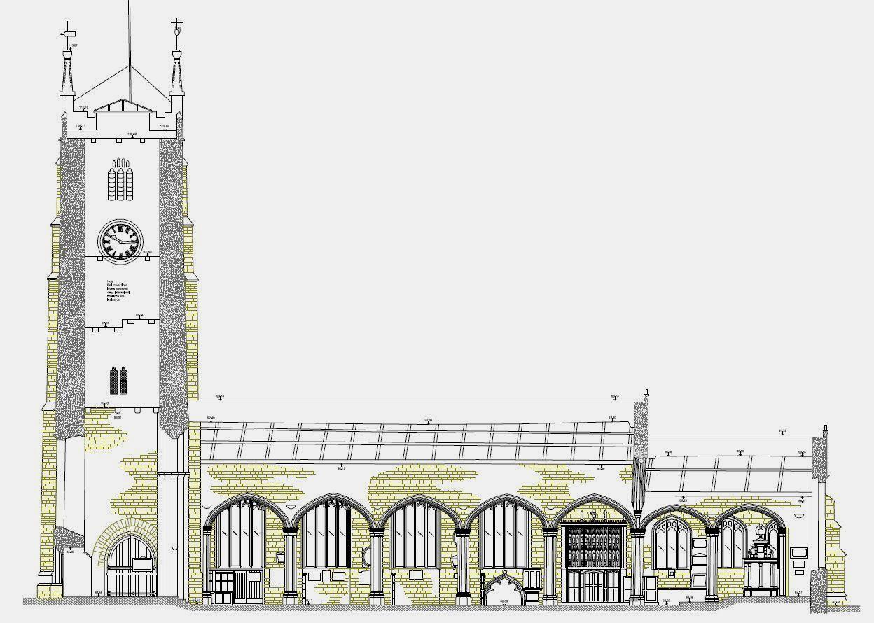 Church cross section, Tavistock