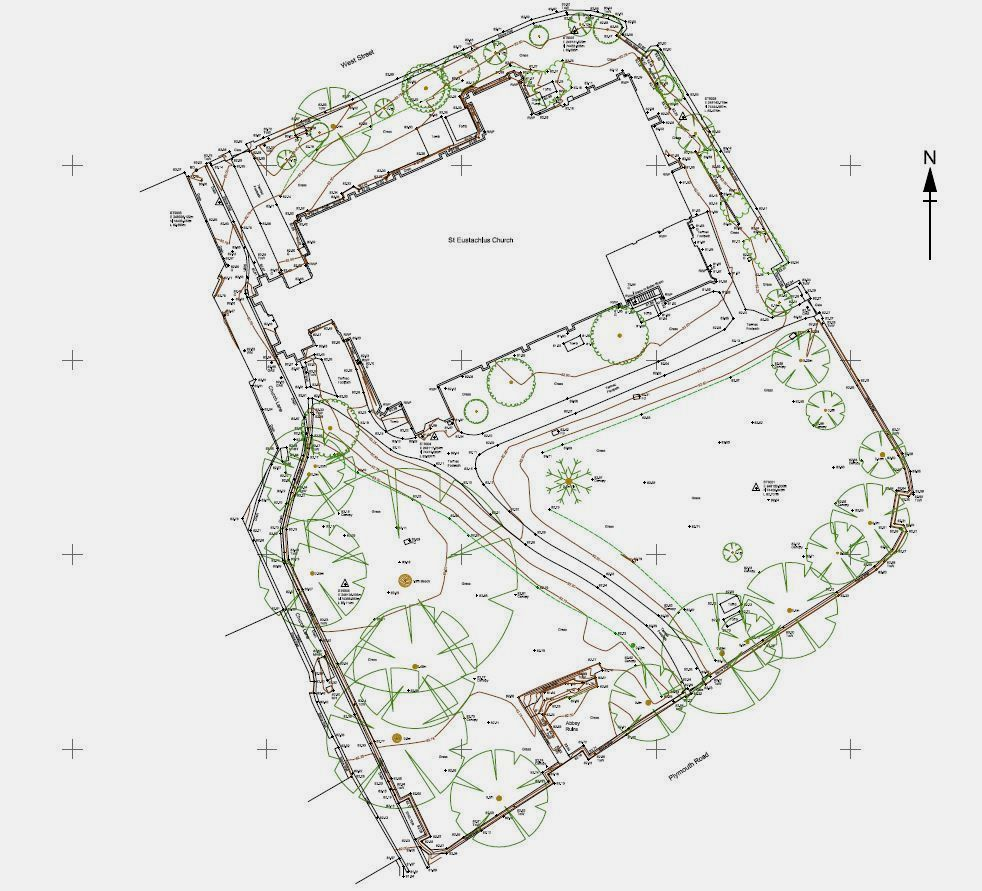 Church topographical land survey, Devon