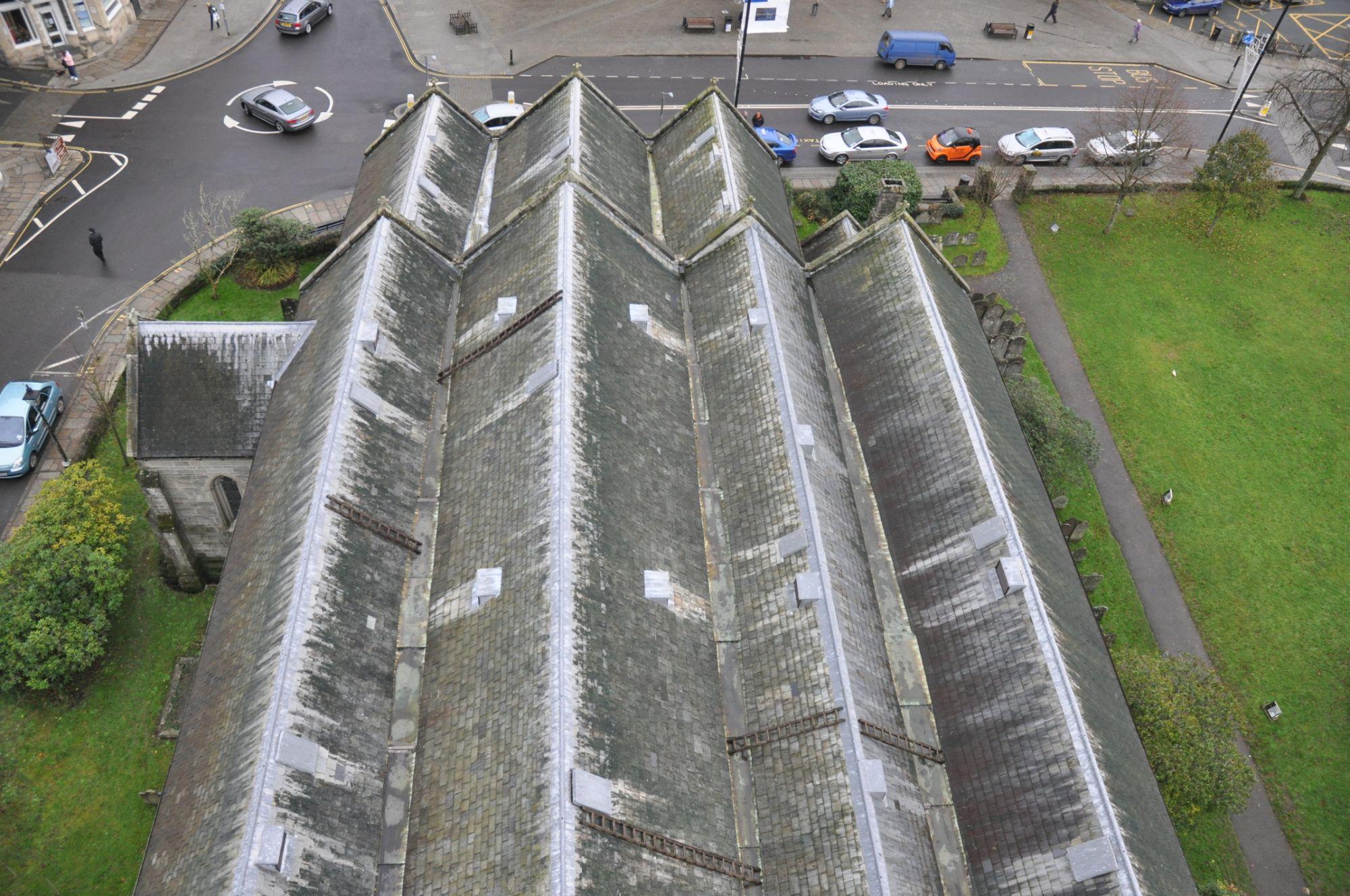 Church roof survey, Tavistock, Devon