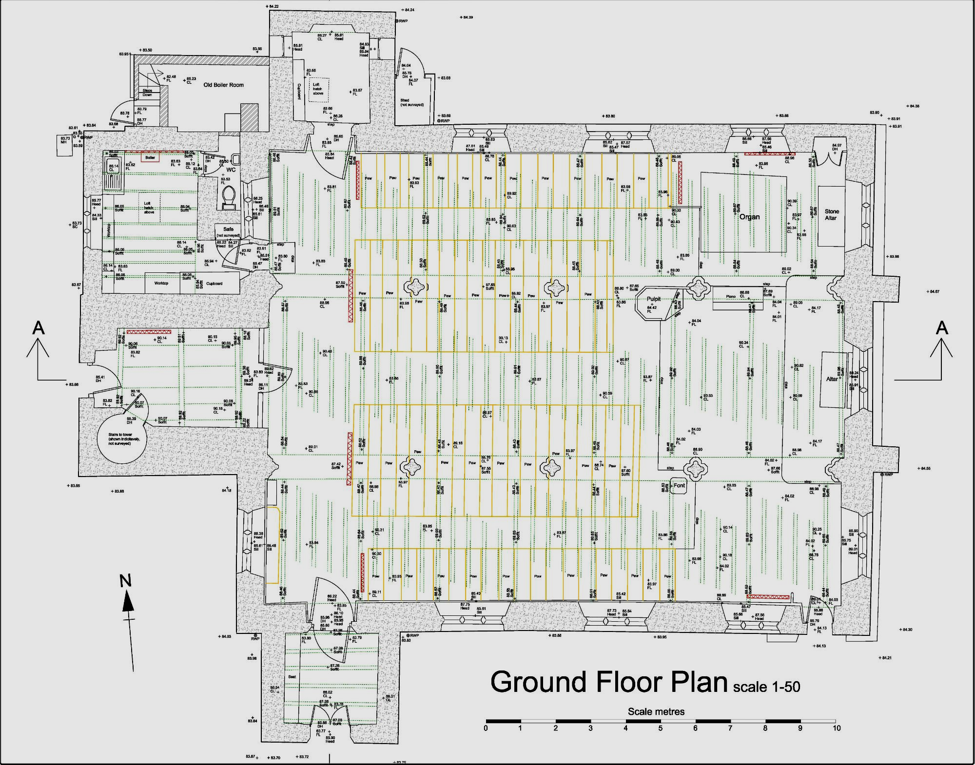 Church floor plan Cornwall