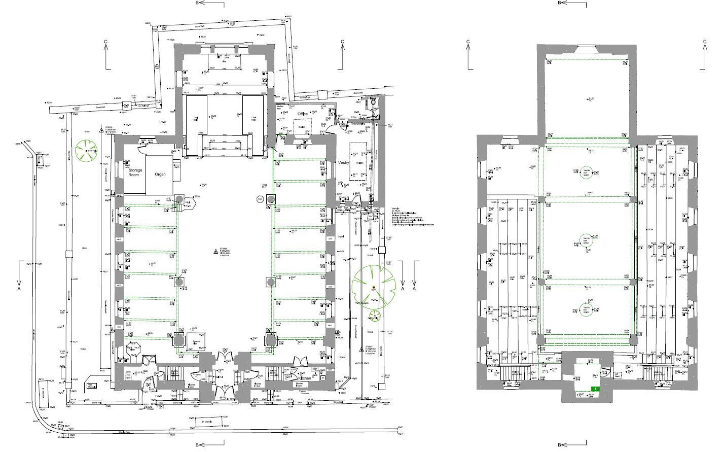 Church Floor Plan, Plymouth, Devon