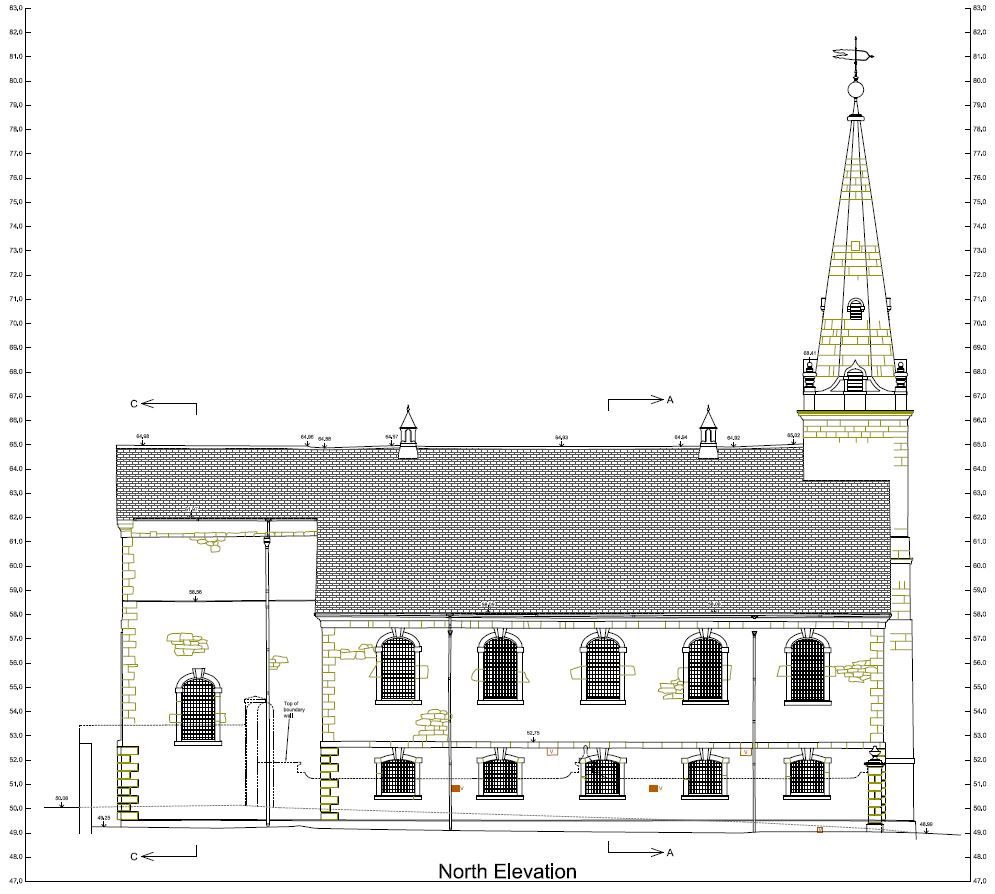 Measured Building Survey of a Church in Plymouth, Devon