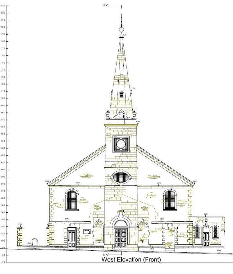 St Aubyn's Church front elevation, Plymouth, Devon