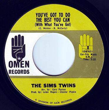 SIMS TWINS - YOU'VE GOT TO DO THE BEST YOU CAN - OMEN