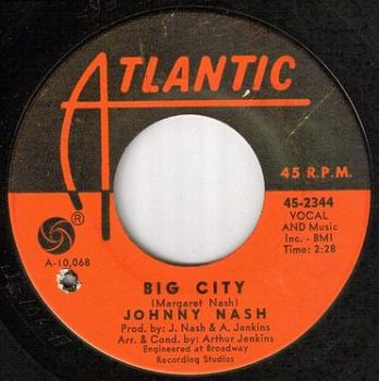 JOHNNY NASH - BIG CITY - ATLANTIC