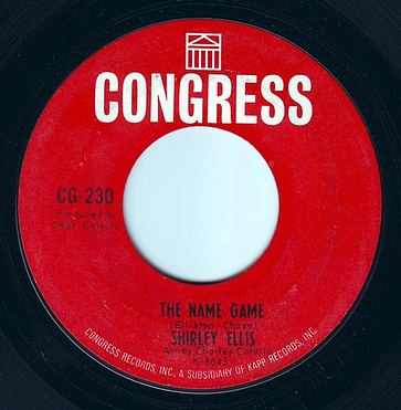 SHIRLEY ELLIS - THE NAME GAME - CONGRESS