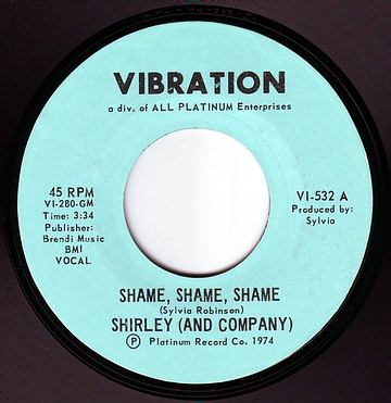 SHIRLEY (AND COMPANY) - SHAME, SHAME, SHAME - VIBRATION