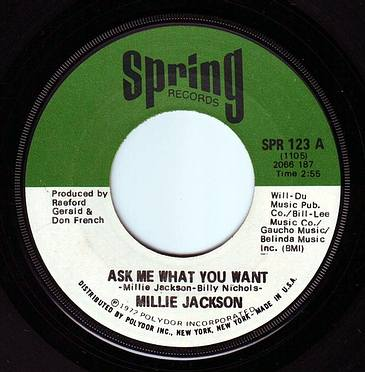 MILLIE JACKSON - ASK ME WHAT YOU WANT - SPRING