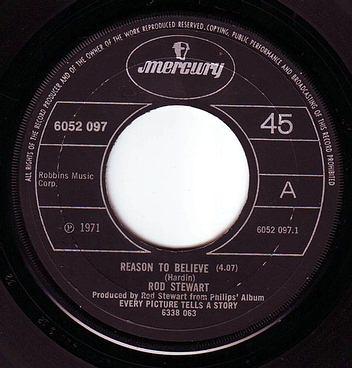 ROD STEWART - REASON TO BELIEVE - MERCURY