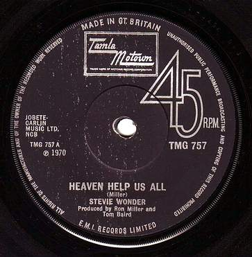 STEVIE WONDER - HEAVEN HELP US ALL - TMG 757