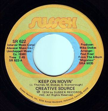 CREATIVE SOURCE - KEEP ON MOVIN' - SUSSEX