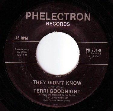 TERRI GOODNIGHT - THEY DIDN'T KNOW - PHELECTRON