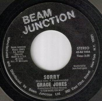 GRACE JONES - SORRY - BEAM JUNCTION
