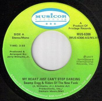 SWAMP DOGG - MY HEART JUST CAN'T STOP DANCING - MUSICOR