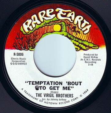 VIRGIL BROTHERS - TEMPTATION 'BOUT TO GET ME - RARE EARTH