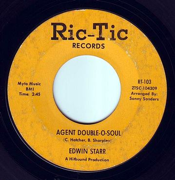 EDWIN STARR - AGENT DOUBLE-O-SOUL - RIC-TIC