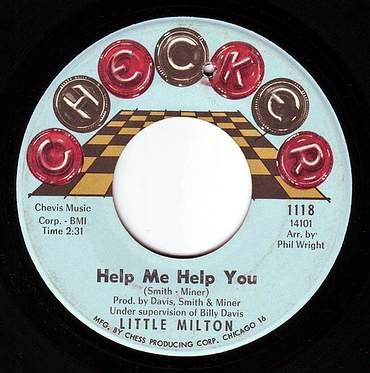 LITTLE MILTON - HELP ME HELP YOU - CHECKER