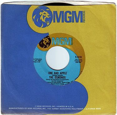 OSMONDS - ONE BAD APPLE - MGM
