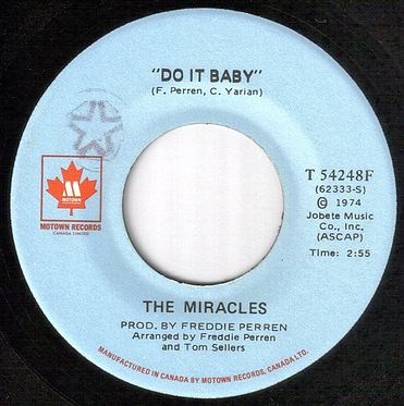 MIRACLES - DO IT BABY - MOTOWN