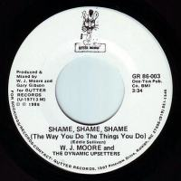 W.J. MOORE & THE DYNAMIC UPSETTERS - SHAME, SHAME, SHAME - GUTTER