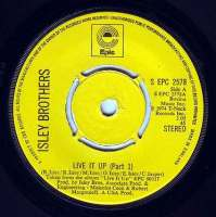 ISLEY BROTHERS - LIVE IT UP - EPIC