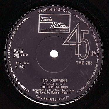 TEMPTATIONS - IT'S SUMMER - TMG 783