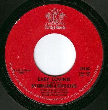 BO KIRKLAND & RUTH DAVIS - EASY LOVING - CLARIDGE
