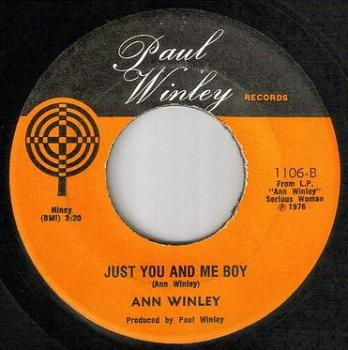 ANN WINLEY - JUST YOU AND ME BOY - PAUL WINLEY