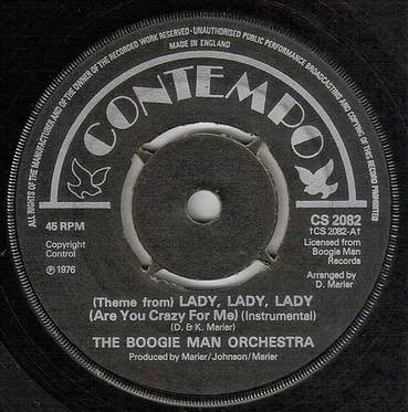 BOOGIE MAN ORCHESTRA - LADY, LADY, LADY - CONTEMPO