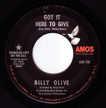 BILLY OLIVE - GOT IT HERE TO GIVE - AMOS DEMO