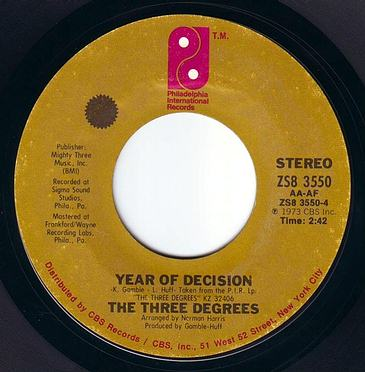 THREE DEGREES - YEAR OF DECISION - PIR