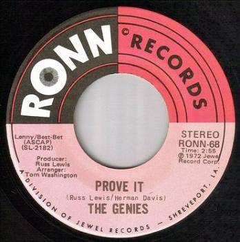 GENIES - PROVE IT - RONN