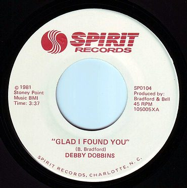 DEBBY DOBBINS - GLAD I FOUND YOU - SPIRIT