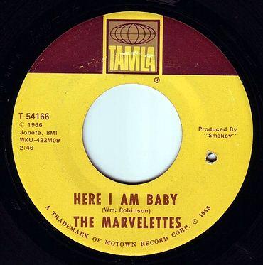 MARVELETTES - HERE I AM BABY - TAMLA