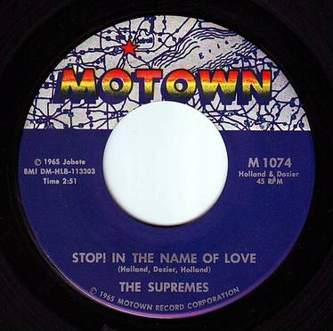 SUPREMES - STOP! IN THE NAME OF LOVE - MOTOWN